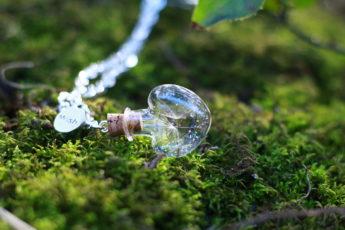 collier fleur de pissenlit chaîne plaqué argent
