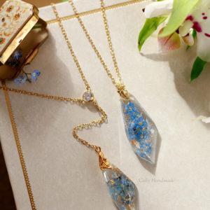 Collier de dos «Wedding Blue»