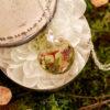 cally handmade champignon et résine mini monde