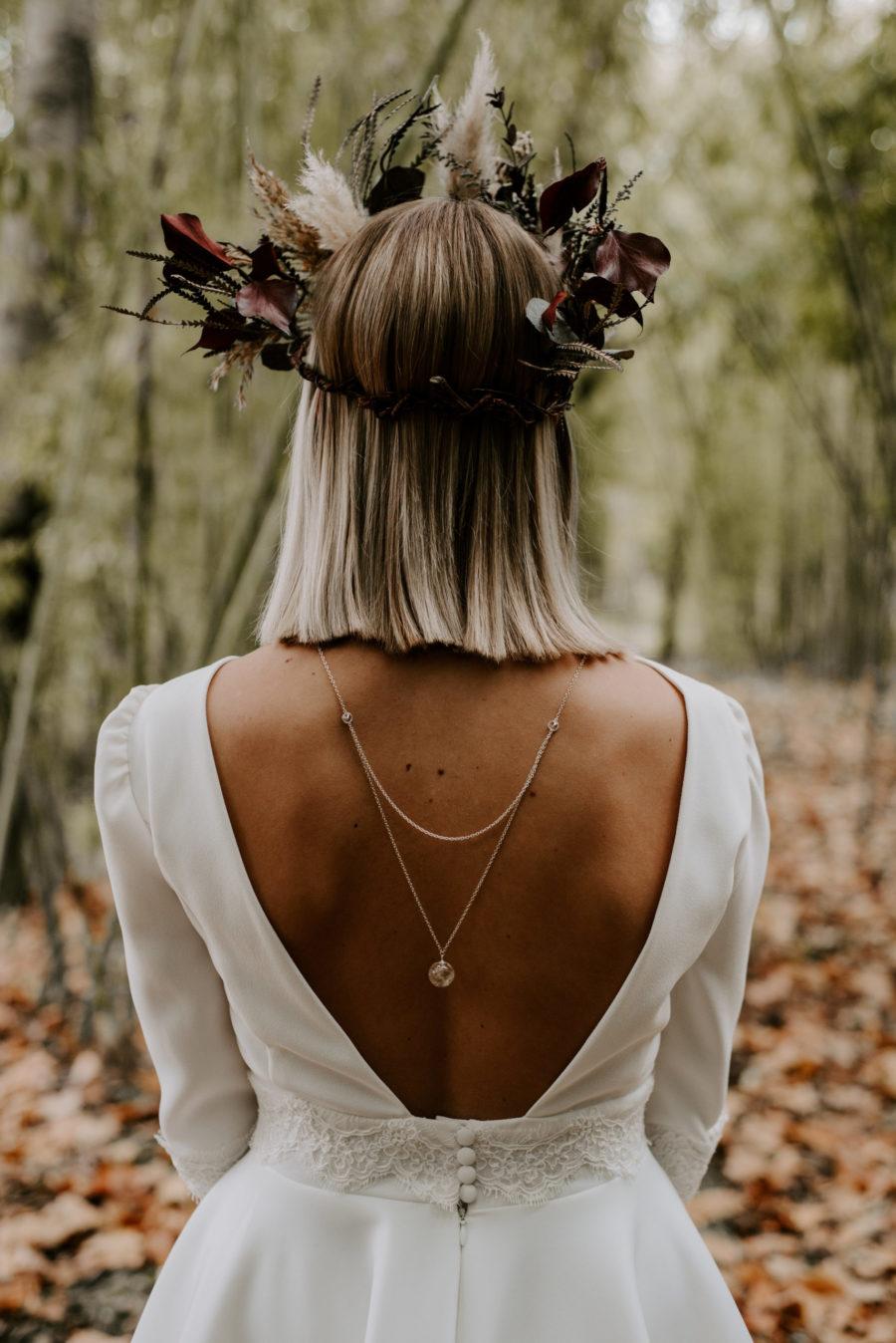 bijoux de dos en fleurs de pissenlits wish