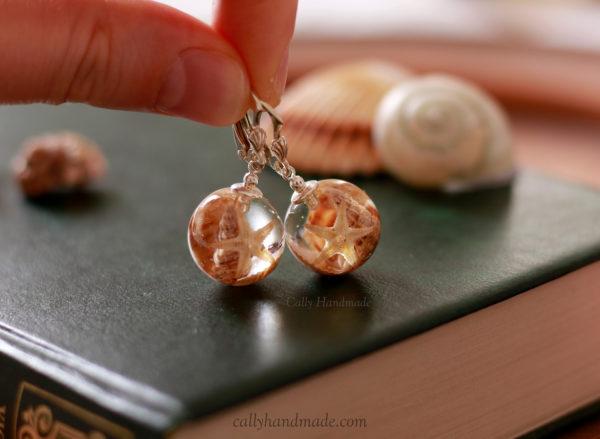 boucles d'oreilles coquillages callyhandmade
