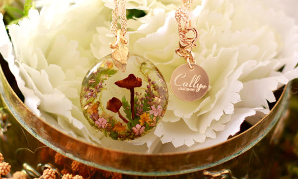 collier nature champignons cally handmade