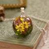jardin de fleurs collier Mini monde