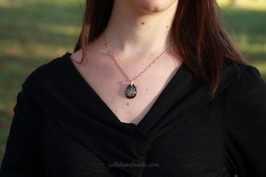 collier equinoxe fleur reine anne