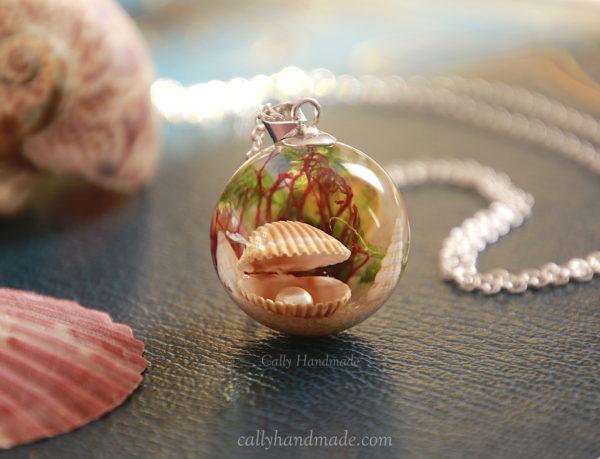 collier thème mer océan coquillages