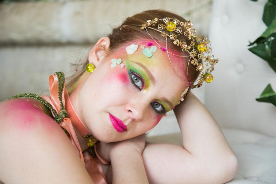 tiare Sanfordia fleurs séchées laiton plaqué or résine accessoires tête femme